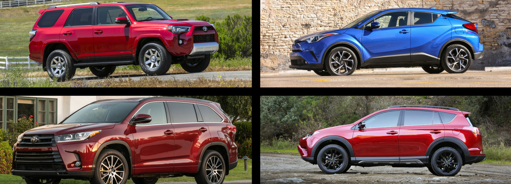 2018 toyota highlander, ch-r, rav4, and 4runner