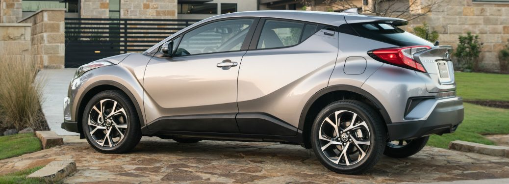 side view of silver 2019 toyota c-hr