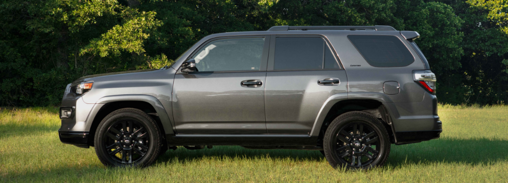 side view of gray 2019 toyota 4runner