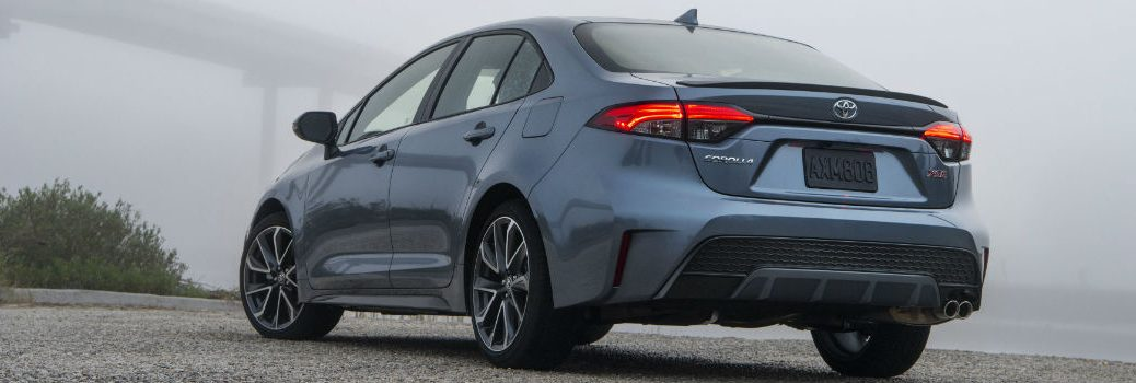 2020 Toyota Corolla XSE Exterior Driver Side Rear Angle