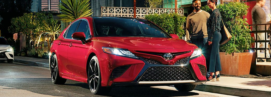 2019 Toyota Camry parked showing front profile