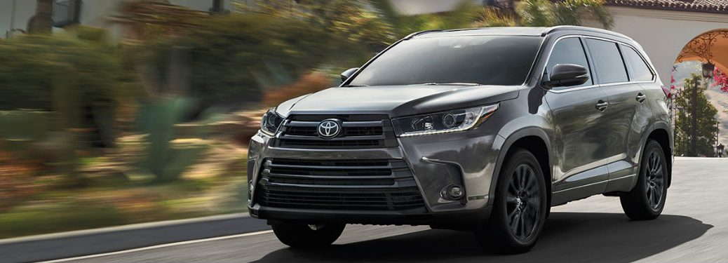 2019 Toyota Highlander driving on a road