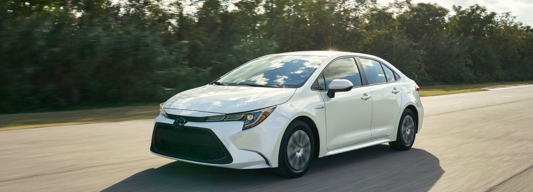 2020 Toyota Corolla driving on a road