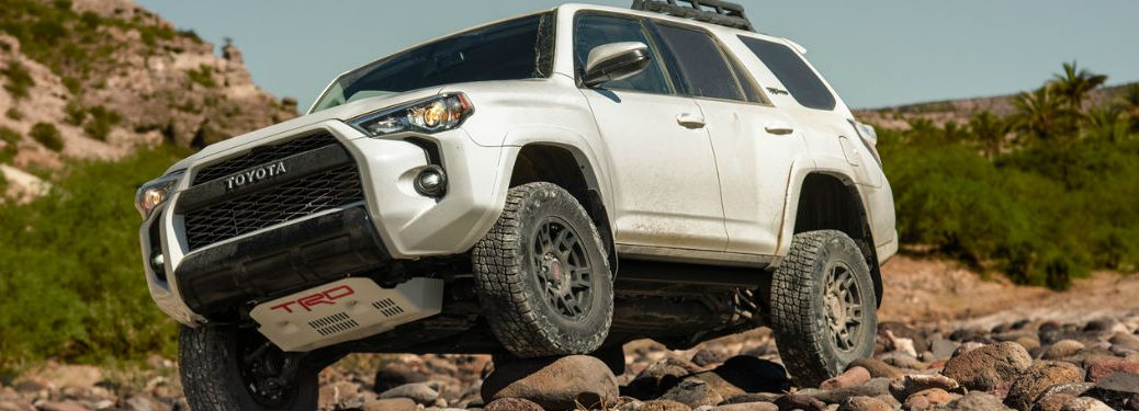 2019 Toyota 4Runner driving on rocks