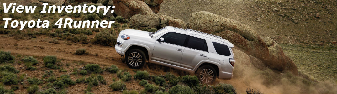 Toyota 4Runner driving on a dirt road