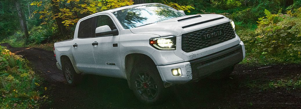 2020 Toyota Tundra driving on off-road trail
