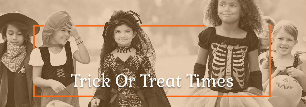 2019 Trick-or-Treat Times in Janesville, WI