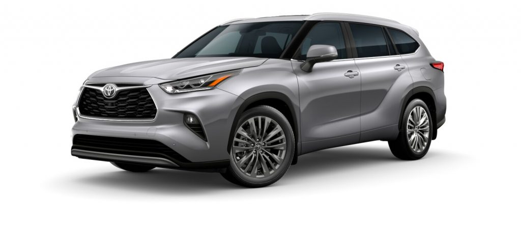 2020 Toyota Highlander Celestial Silver Metallic side view