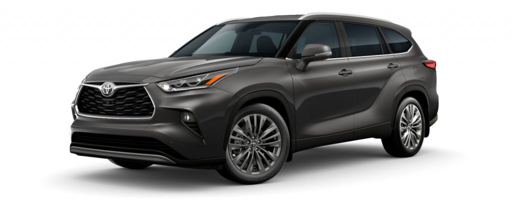 2020 Toyota Highlander Magnetic Gray Metallic side view
