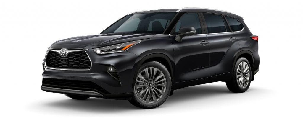 2020 Toyota Highlander Midnight Black Metallic side view