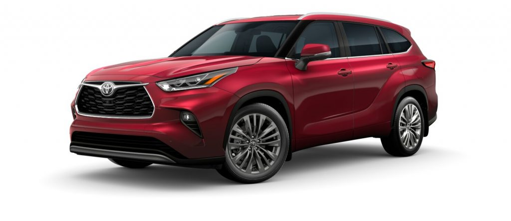 2020 Toyota Highlander Red Flare Pearl side view