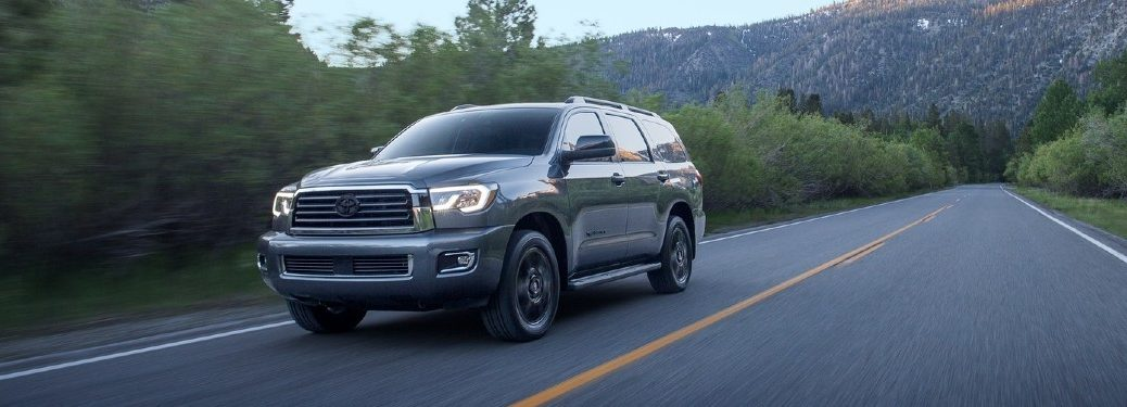 2020 Toyota Sequoia on road