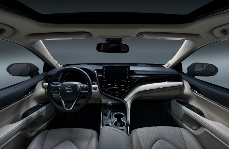 Interior front dash of 2021 Toyota Camry