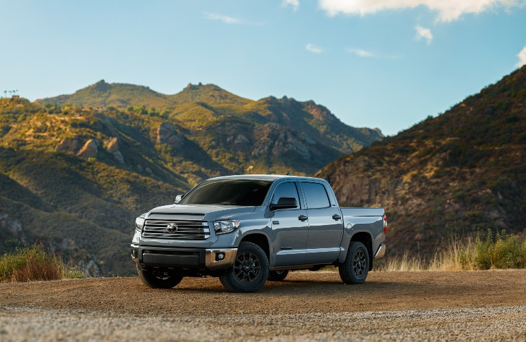 2021 Toyota Tundra from exterior front with mountains in background