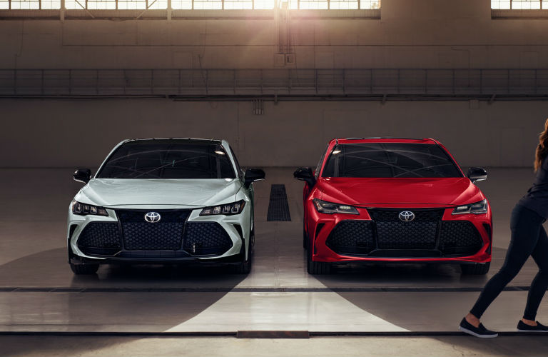 Two 2021 Toyota Avalon models side by side