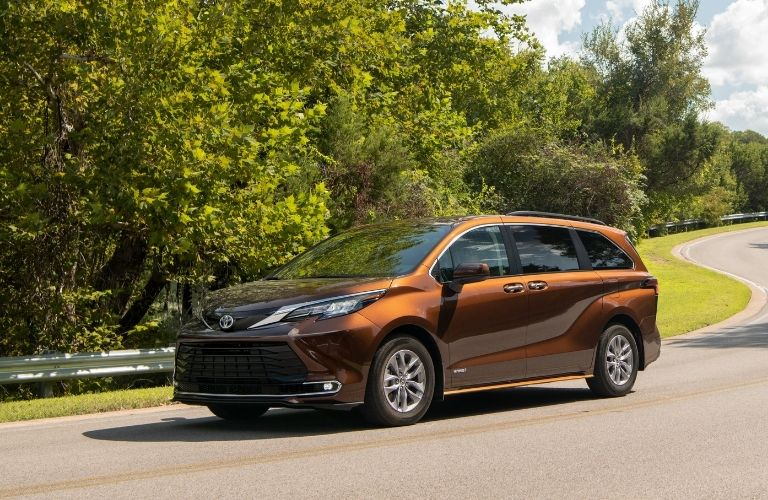 2021 Toyota Sienna driving on highway