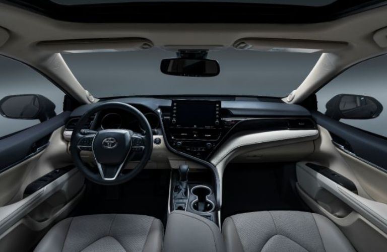 The interior view of the 2021 Toyota Camry.