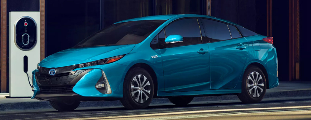 2022 Toyota Prius Prime at a charging station