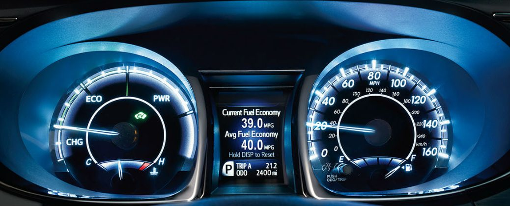 What Do Toyota Dashboard Warning Lights Mean at Downeast Toyota-Bangor ME-2016 Toyota Avalon Hybrid Dashboard
