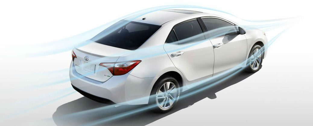 2016 Toyota Corolla LE Eco Trim Level Features at J. Pauley Toyota-Fort Smith AR-White 2016 Toyota Corolla LE Eco Aerodynamics