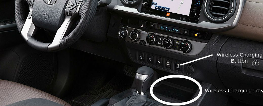 What is Toyota Qi Wireless Charging at Downeast Toyota-Bangor ME-2016 Toyota Tacoam Center Console with Qi Wireless Charging Station