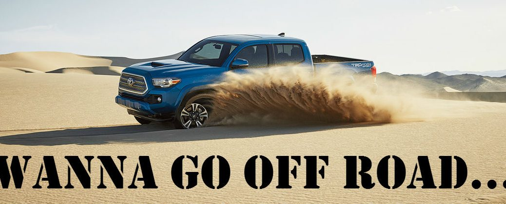 All-New 2016 Toyota Tacoma Off-Road Features at Downeast Toyota-Bangor ME-Blue 2016 Toyota Tacoma Off Road on Sand