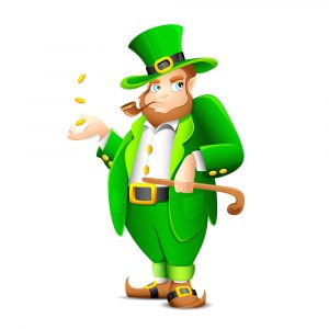2016 St. Patrick's Day Events Bangor ME at Downeast Toyota-Brewer ME-Fat Leprechaun with Pipe and Gold