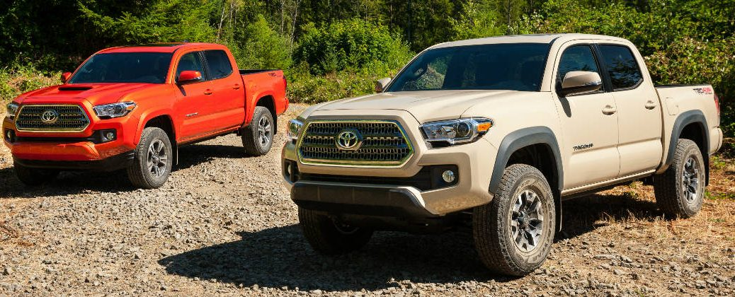What Are the Color Options for the 2016 Toyota Tacoma at Downeast Toyota-Bangor ME-Inferno and Quicksand 2016 Toyota Tacomas
