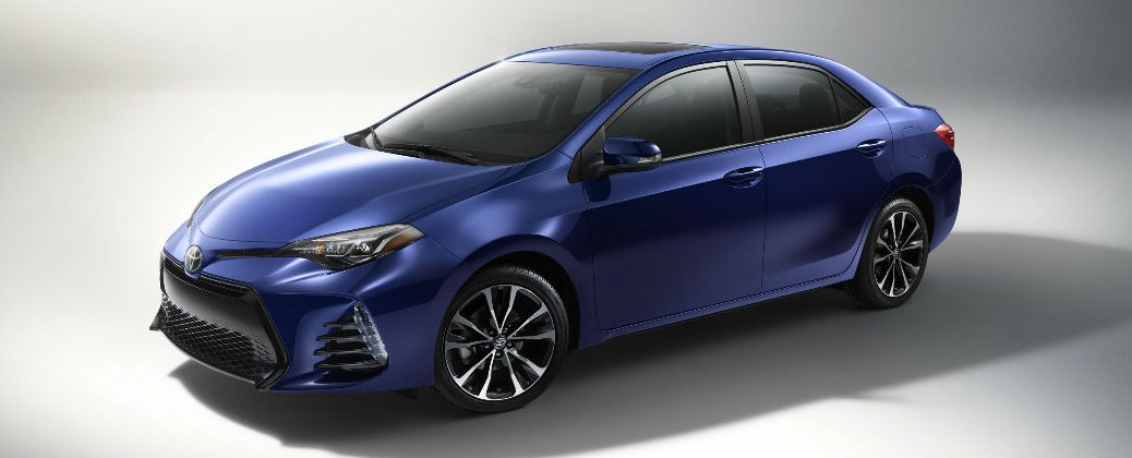 Blue 2017 Toyota Corolla XSE Front and Side Exterior Design