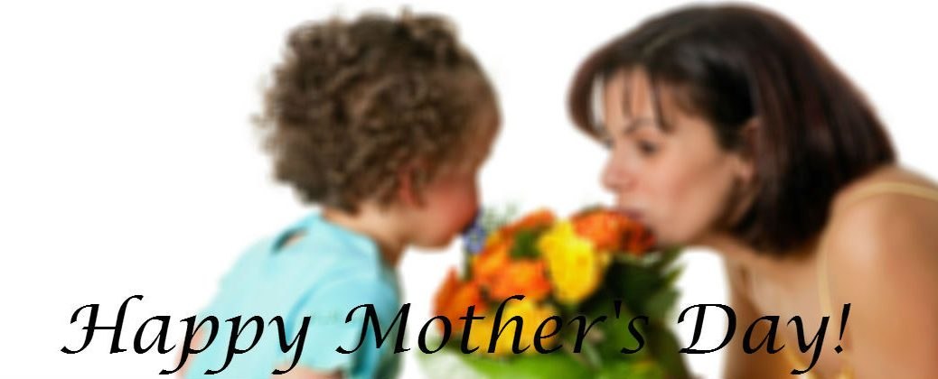 Child Gives Mother Flowers for Mother's Day