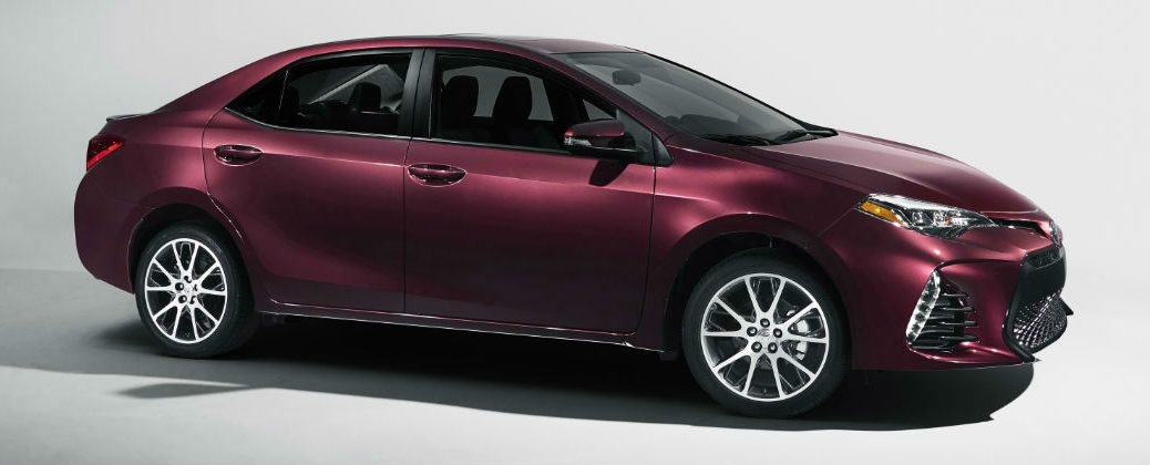 Black Cherry 2017 Toyota Corolla 50th Anniversary Edition Front and Side Exterior