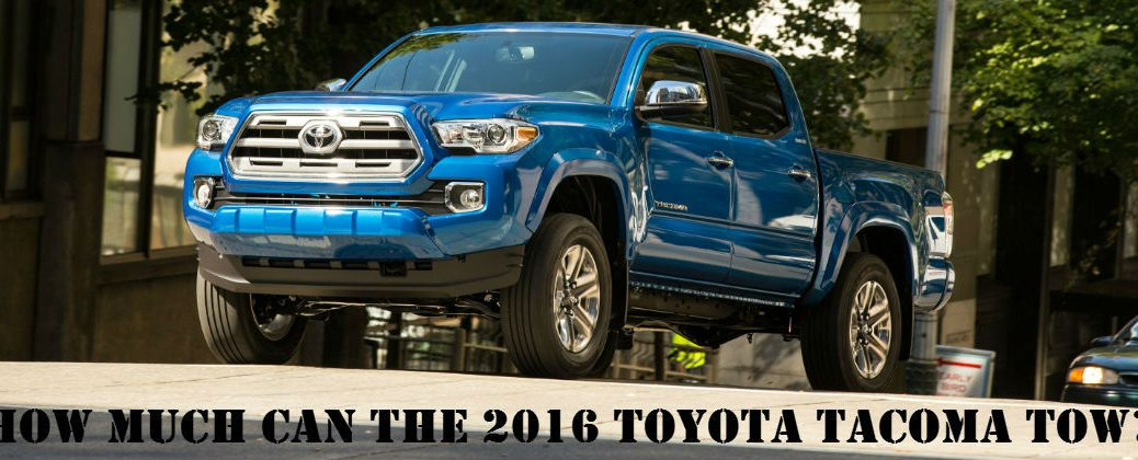 Blue 2016 Toyota Tacoma on the Road