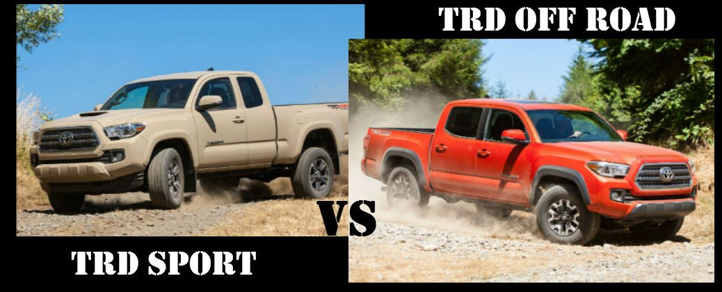 Quicksand Toyota Tacoma TRD Sport in Sand and Orange Toyota Tacoma TRD Off Road in Dirt