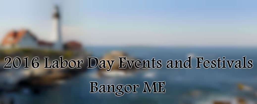 Background of Lighthouse and Ocean with Labor Day Banner