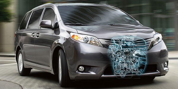 2017 Toyota Sienna with Revealed Powertrain