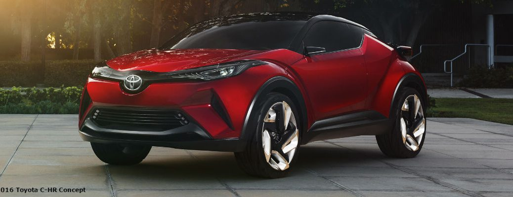 Red 2016 Toyota C-HR Concept Design Exterior
