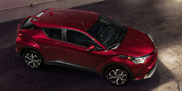 Red 2018 Toyota C-HR Overhead View