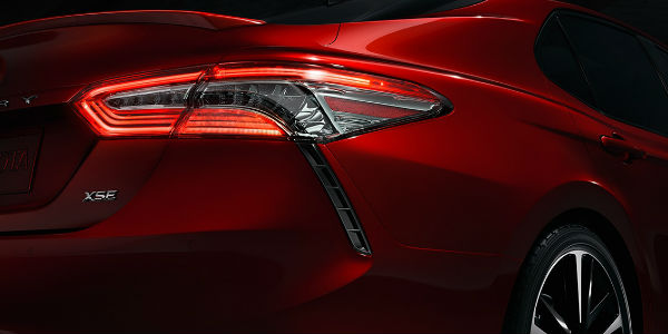 Close Up of 2018 Toyota Camry Rear Exterior Taillights