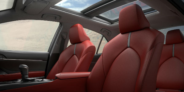 Red 2018 Toyota Camry Leather iNterior and Panoramic Moonroof