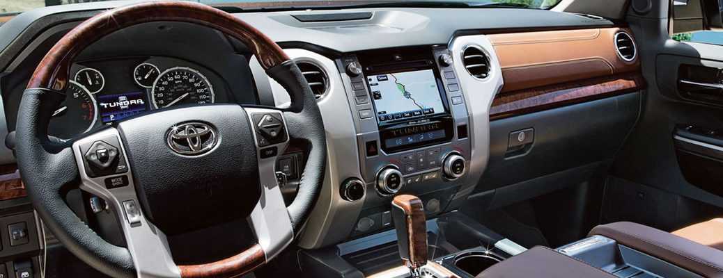 2017 Toyota Tundra Dashboard with Toyota Entune Integrated Navigation System