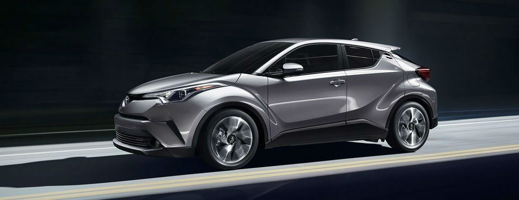 Silver 2018 Toyota C-HR in Shadowed Garage