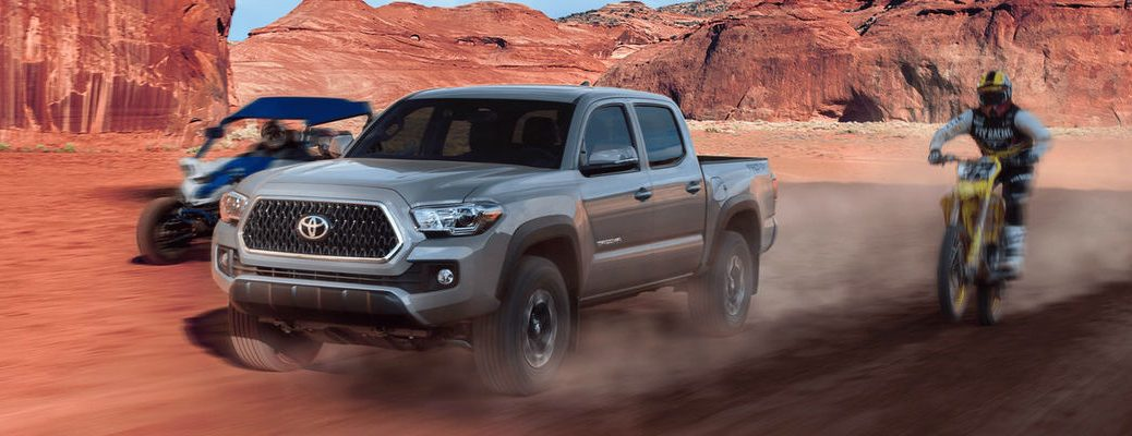 Cement 2018 Toyota Tacoma Racing Dirt Bike and ATV in Desert