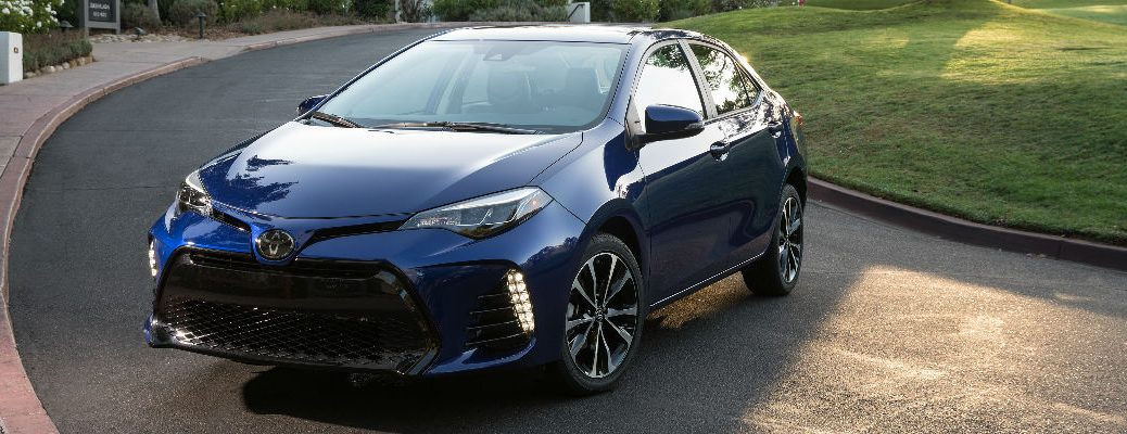 Blue 2018 Toyota Corolla SE Parked on a Neighborhood Street