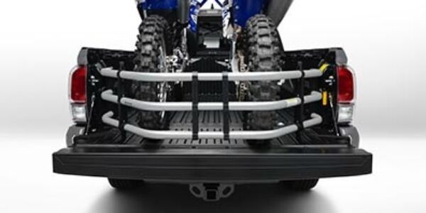 2019 Toyota Tacoma with Bed Extender and 4-Wheeler in the Bed