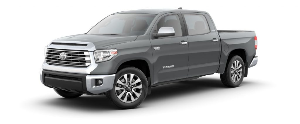 Cement 2020 Toyota Tundra on White Background