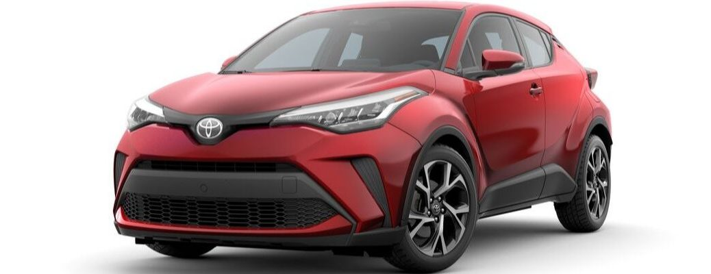 Red 2020 Toyota C-HR Front Exterior on a White Background