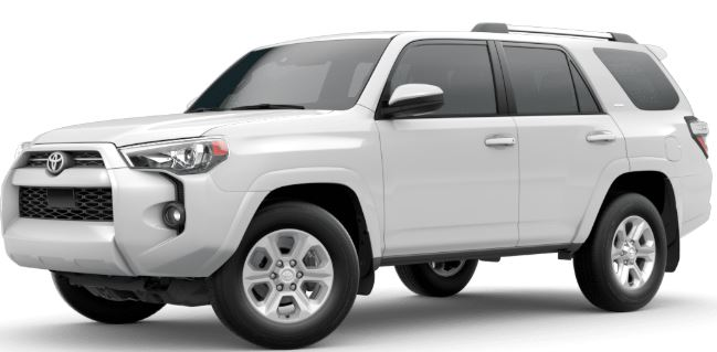 Super White 2020 Toyota 4Runner on White Background