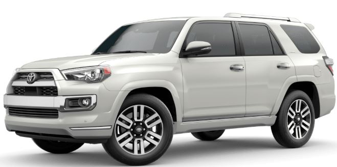 Blizzard Pearl 2020 Toyota 4Runner on White Background