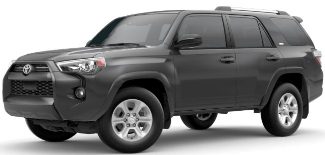 Magnetic Gray Metallic 2020 Toyota 4Runner on White Background