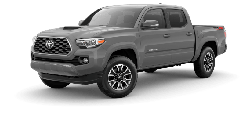 Cement 2020 Toyota Tacoma on White Background